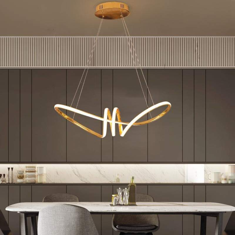 Chrome Gold Plated Hanging Light
