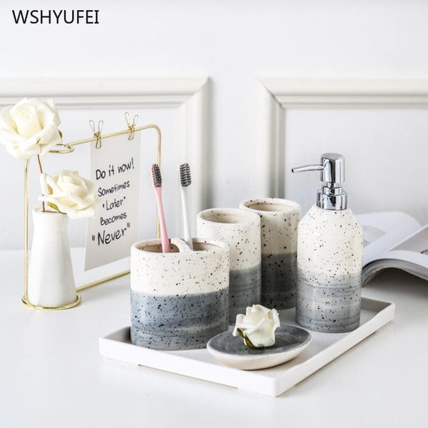 Japanese Style Bathroom Set