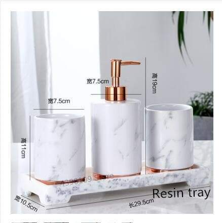 Marble Look Bathroom Sets