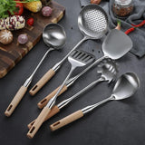 Wood Handle Cooking Tools Set