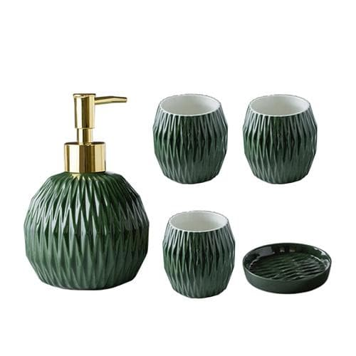 Embossed Line Bathroom Set