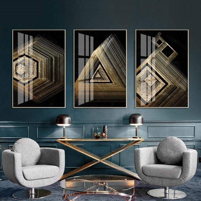 Gold Geometric Canvas