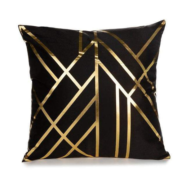 Black Gold Stripes Mirror