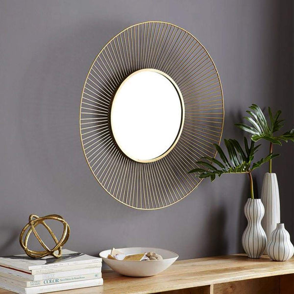 Stripe Rounded Wall Mirror