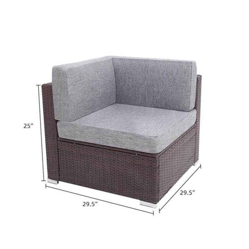 3 Pieces Patio Rattan Set