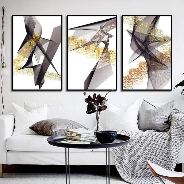 Abstract Lines Canvas