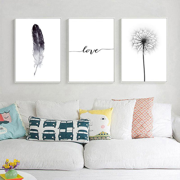 Love Feather Canvas
