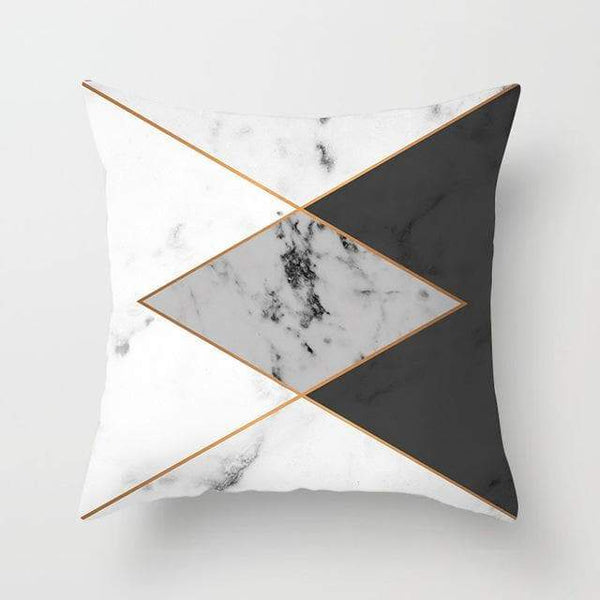 Marble Triangle Pillow Case