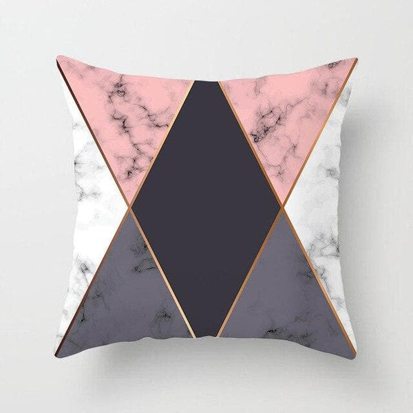 Marble Pink Triangle Pillow Case