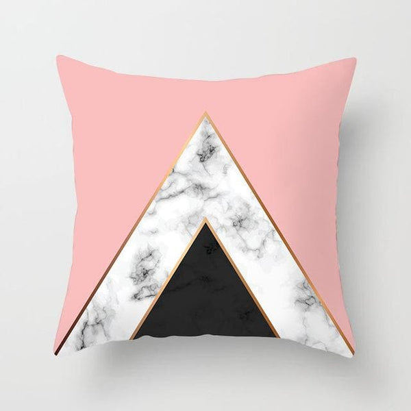 Marble Pink Pyramid Pillow Case