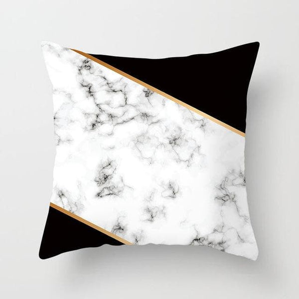Marble Black Edge Pillow Case