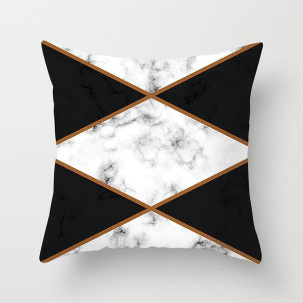 Marble Rhombus Pillow Case