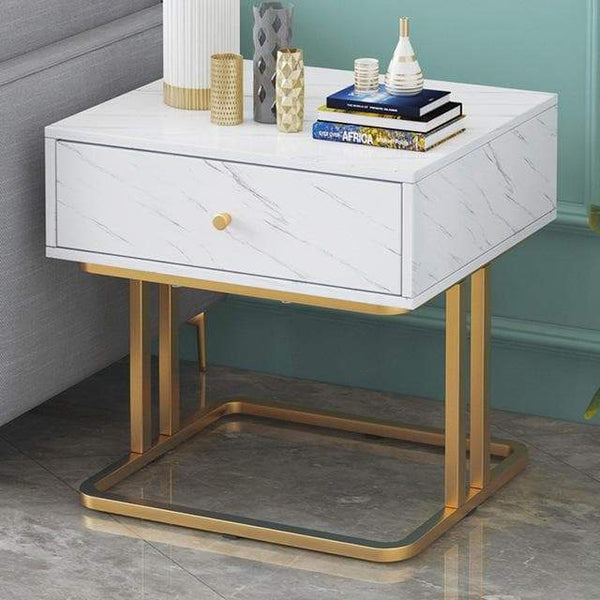 Bedroom Table Marble Look