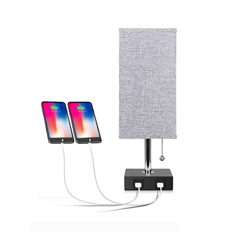 Modern USB Port Table Lamp