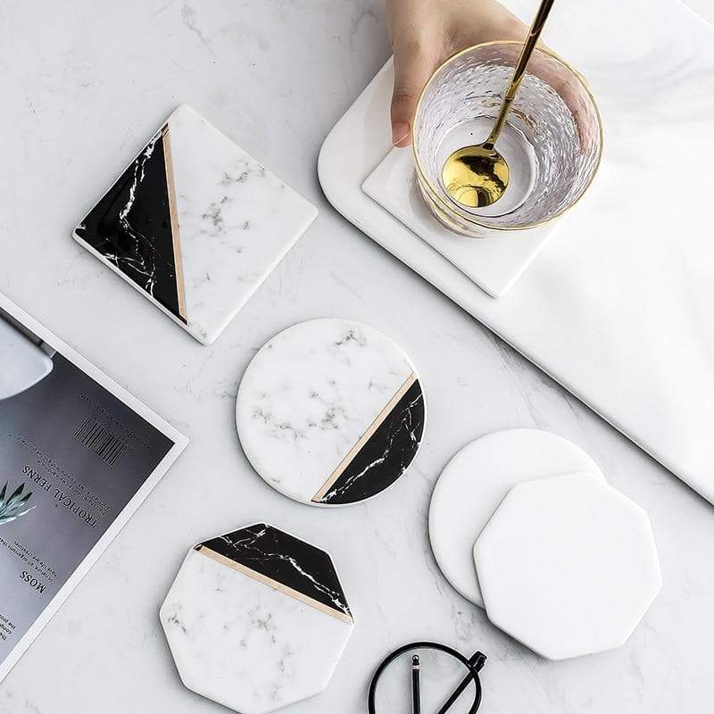 New Gold Marble Coaster