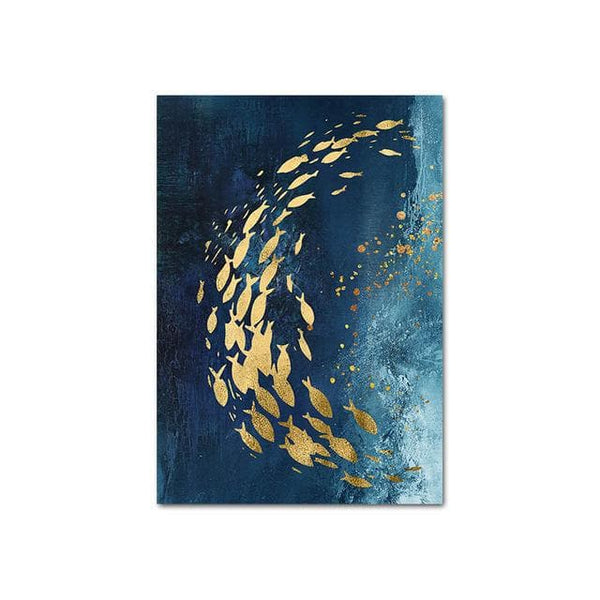 Swimming Fish Abstract Canvas