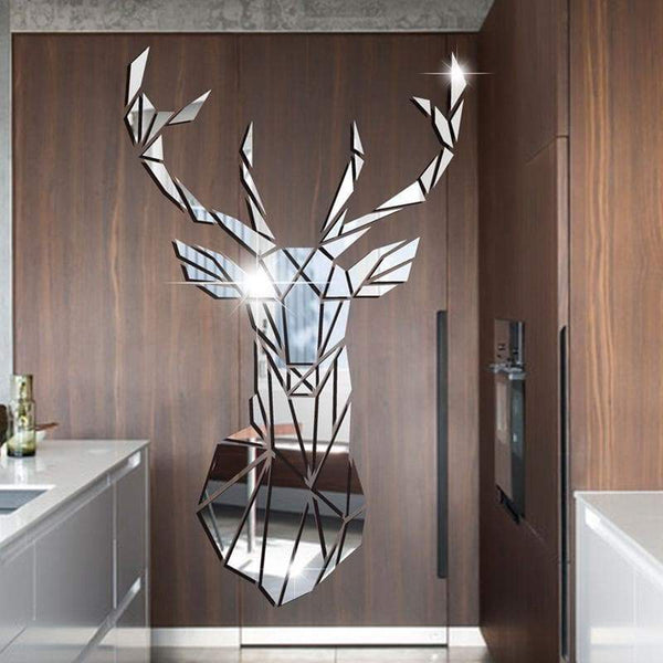 Wall Mirror Sticker Deer