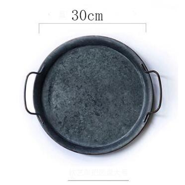 Vecture Retro Metal Plate With Handles