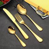 24Pcs Luxury Golden dining set