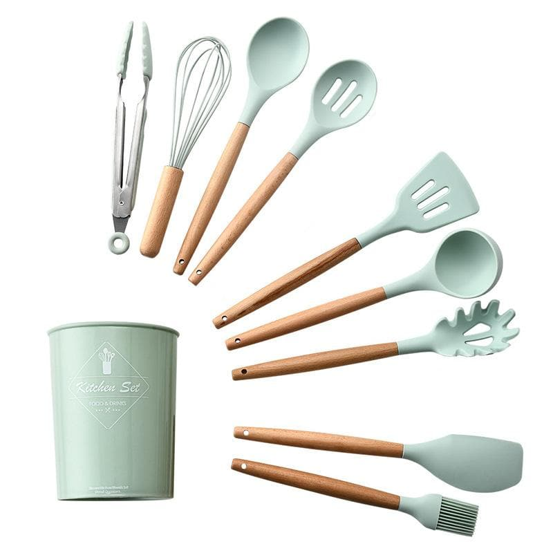 Fresh Blue Silicone Kitchenware Set