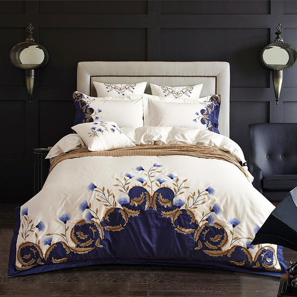 Blue White Bedding Set