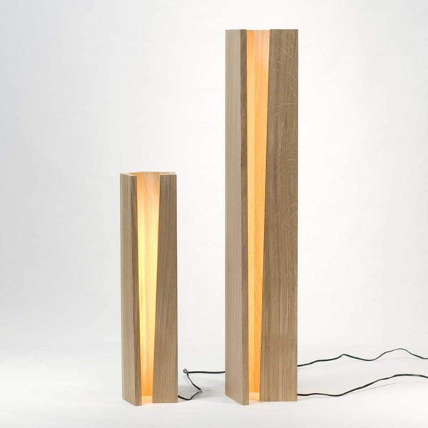 Wooden Fire Floor Light