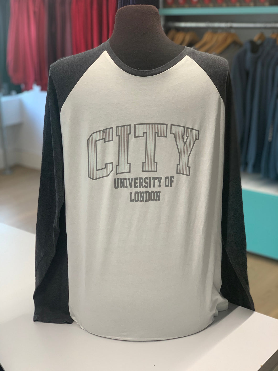 City Fairtrade Long Sleeve Baseball T-Shirt