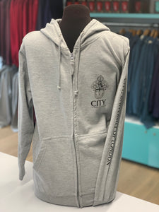 City Crest & Arm Zipped Hoodie