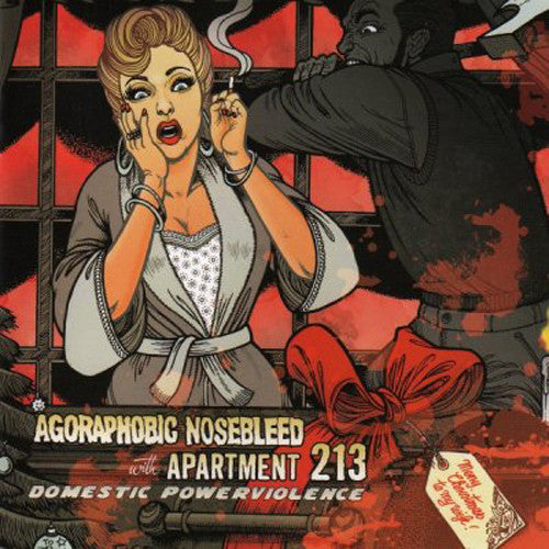 "Agoraphobic Nosebleed / Apartment 213 'Domestic Violence' Split 12"" LP"