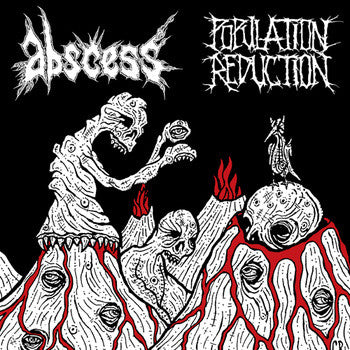 "Abscess / Population Reduction - Split 12"" LP"