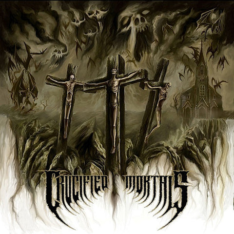 "Crucified Mortals 's/t' Gatefold 12"" LP with poster"