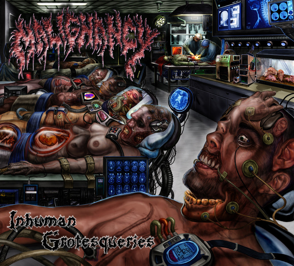 "Malignancy 'Inhuman Grotesqueries' 12"" LP"