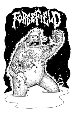 Forcefield Yetti kills Rudolph X-Mas Tee by Barf