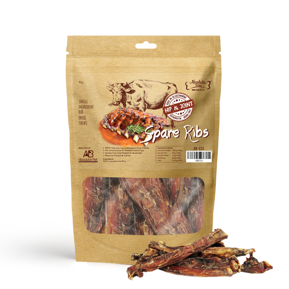 Absolute Bites Air Dried Treats (Spare Ribs) for Dogs (2 sizes)