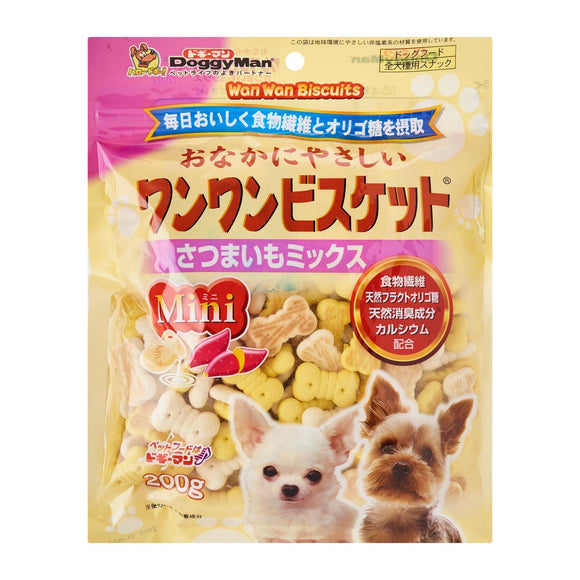[DM-80290] DoggyMan Bowwow Mini Sweet Potato Biscuit for Dogs (200g)