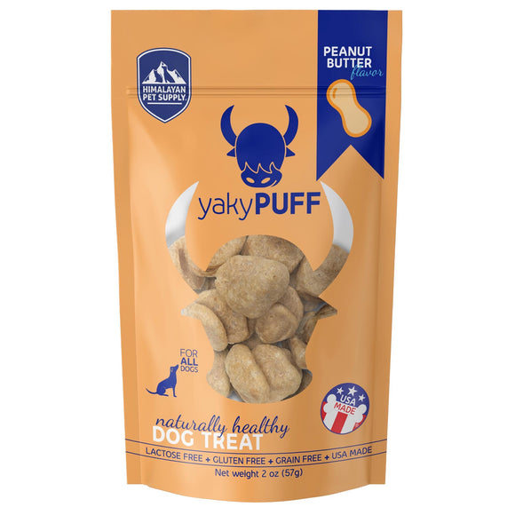 Himalayan Pet Supply yakyPUFF Cheese Dog Treats (Peanut Butter Flavor) 57g