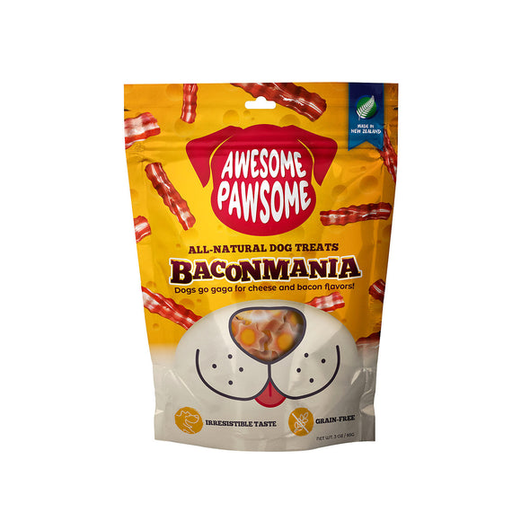 Awesome Pawsome BACONMANIA Dog Treats (3oz/85g)