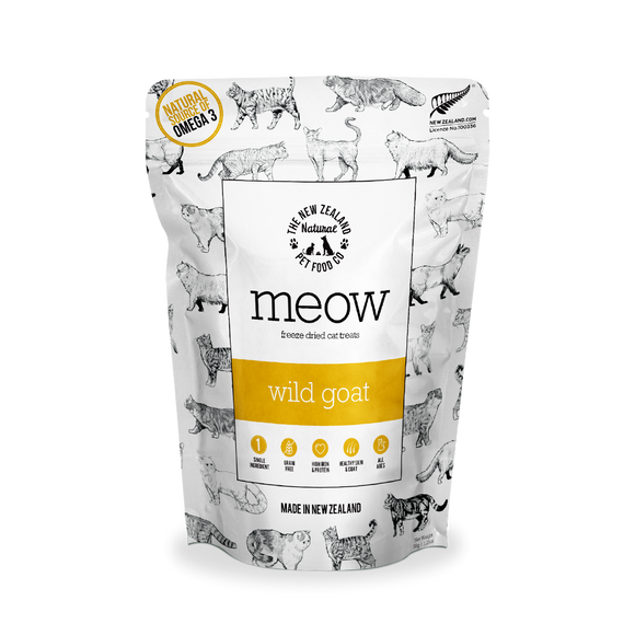 NZ Natural MEOW Freeze Dried Raw Treats (Wild Goat) 50g