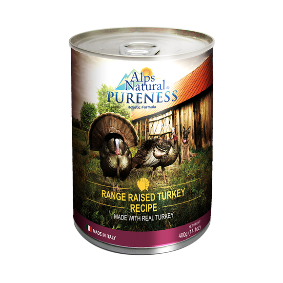 [ALP1289] Alps Natural Pureness Range Raised Turkey Canned Food for Dogs (400g)