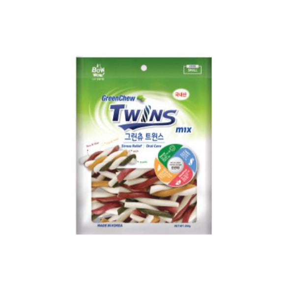 [BW2043] Bow Wow Green Chew Twins Dental Chew for Dogs (S) 250g