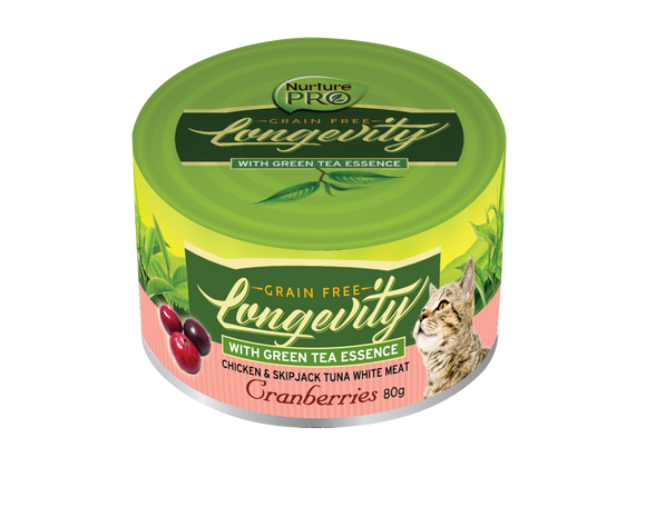 Nurture Pro Longevity Chicken & Skipjack Tuna Meat with Cranberries