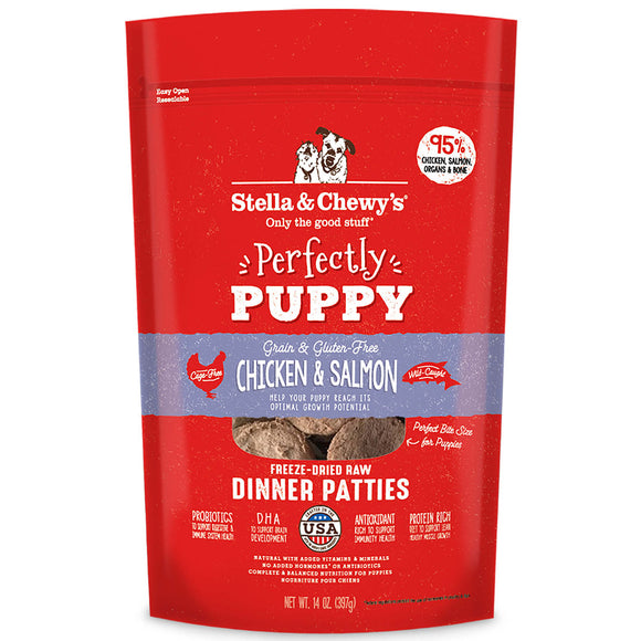 [SC-FDPUP-14] Stella & Chewy's Perfectly Puppy Chicken & Salmon Dinner Patties (14oz)