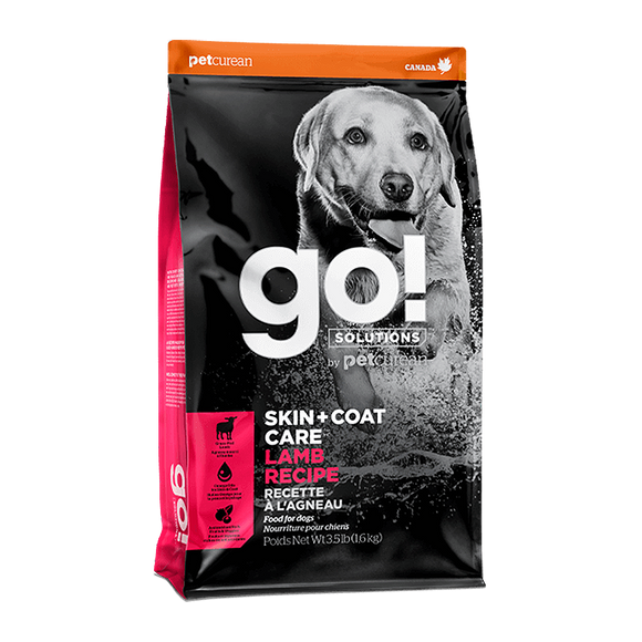 [GO-295] Petcurean Go! Skin + Coat Lamb Recipes Dry Food for Dogs (3.5lb)