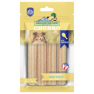 Himalayan Pet Supply Churro Himalayan Dog Chew Cheese with Chicken Dog Chew Soft Density Treats (113g)