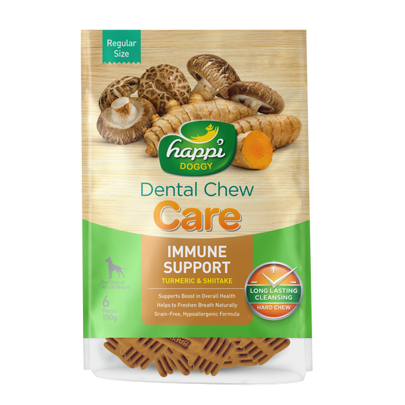 Happi Doggy Dental Chew (Immune Support) 2 sizes