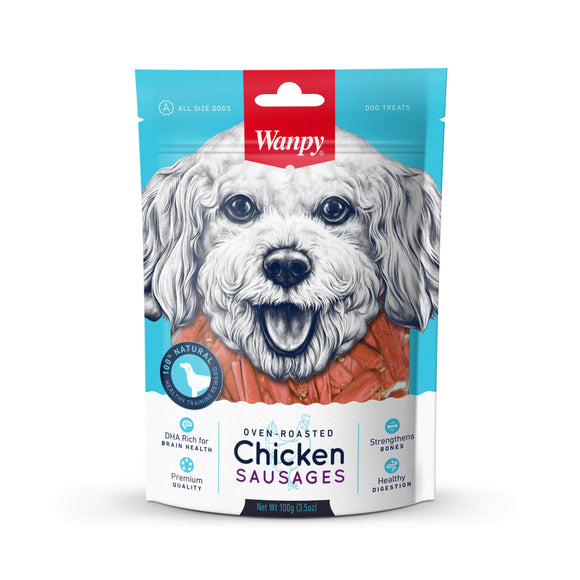 [WP-193] Wanpy Chicken Sausage Dog Treats (100g)