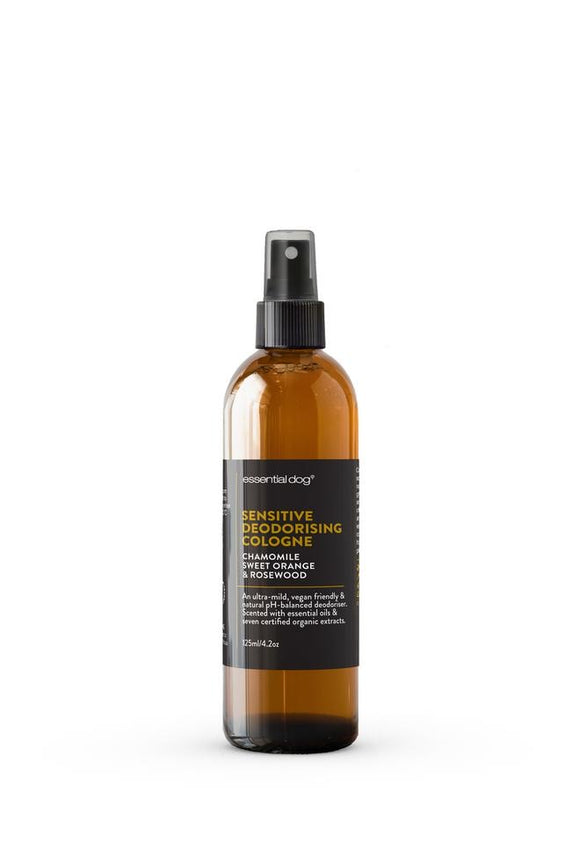 Essential Dog Sensitive Deodorising Cologne with Chamomile, Sweet Orange & Rosewood for Dogs (125ml)