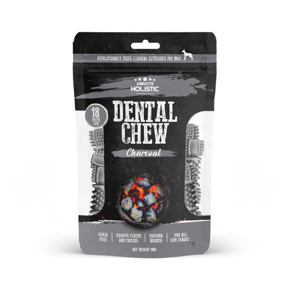 Absolute Holistic Petite Size Dental Chew Value Pack (Charcoal) 160g