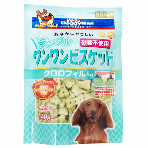 [DM-82281] DoggyMan Dental Biscuit with Chlorophyll for Dogs (140g)