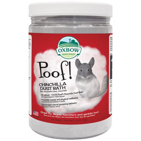[O57] Oxbow Poof Chinchilla Dust Bath (2.5lb/1.13kg)
